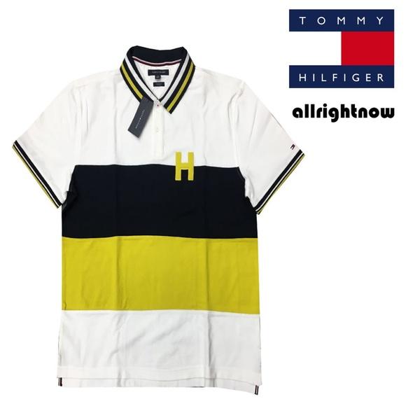 ef6456dd Tommy Hilfiger Shirts   Mens Gold Navy H Polo Shirt   Poshmark